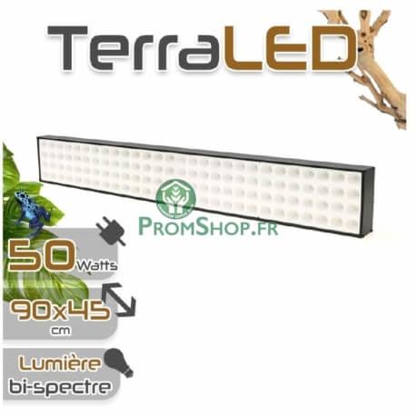 Eclairage LED horticole pour terrarium 50 watts