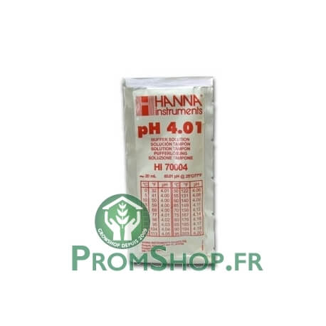 Liquide d'étalonnage PH 4.01 / 20ml