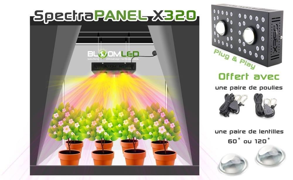 panneau de led horticole spectra panel x320. Black Bedroom Furniture Sets. Home Design Ideas