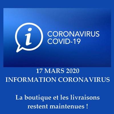Information COVID-19 - Boutique ouverte